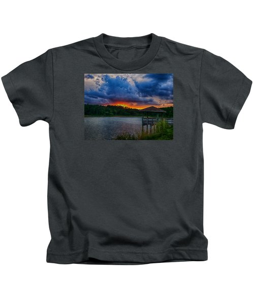 Sunset Huntington Beach State Park Kids T-Shirt
