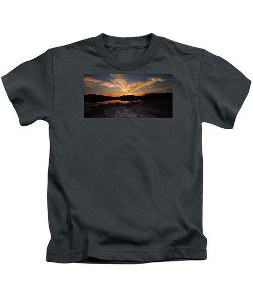 Sunset In Sardinia Kids T-Shirt