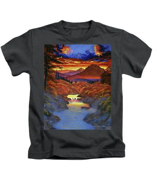 Sunset In The Valley Kids T-Shirt