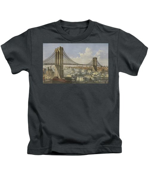 The Great East River Suspension Bridge Kids T-Shirt