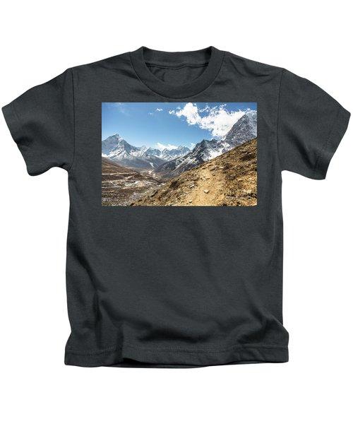 The Path To Cho La Pass In Nepal Kids T-Shirt
