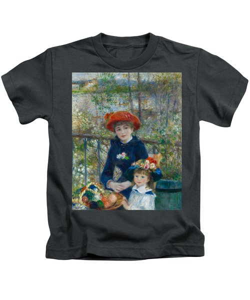 Two Sisters On The Terrace Kids T-Shirt