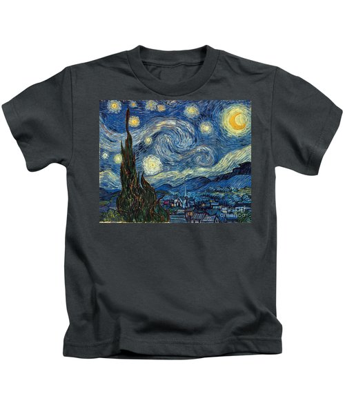 Van Gogh Starry Night Kids T-Shirt