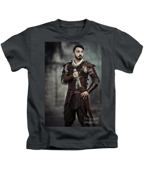 Viking Warrior With Sword Kids T-Shirt