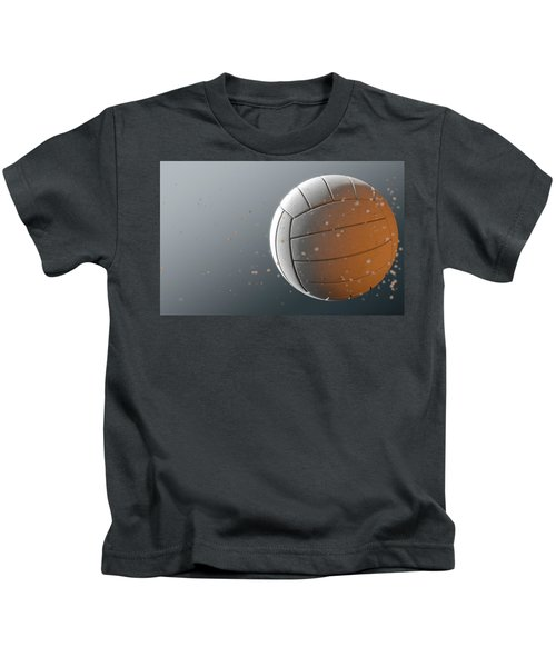 Volleyball In Flight Kids T-Shirt