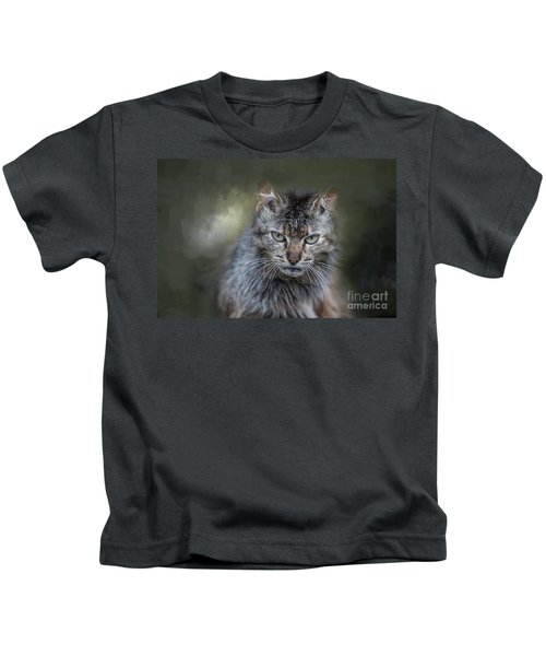 Wild Cat Portrait Kids T-Shirt
