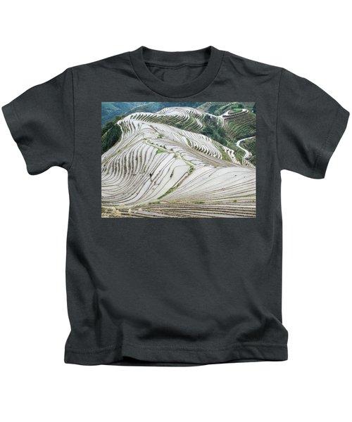 Terrace Fields Scenery In Spring Kids T-Shirt