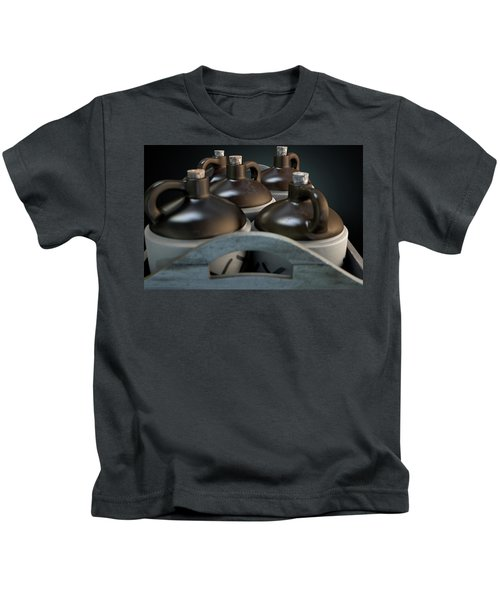 Moonshine In Wooden Crate Kids T-Shirt