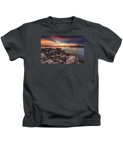 Sunst Over The Ocean Kids T-Shirt