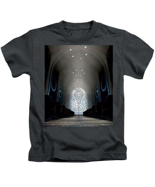 Stained Glass Window Church Kids T-Shirt