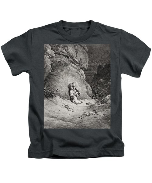 Engraving From The Dore Bible Kids T-Shirt