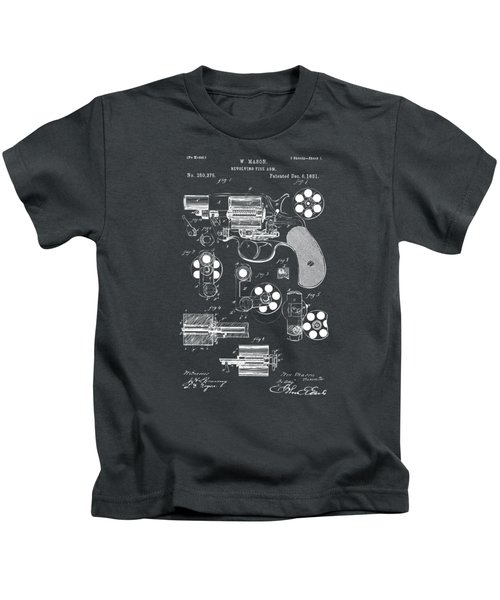1881 Colt Revolving Fire Arm Patent Artwork - Gray Kids T-Shirt
