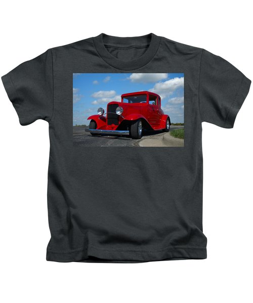 1930 Chevrolet Coupe Hot Rod Kids T-Shirt