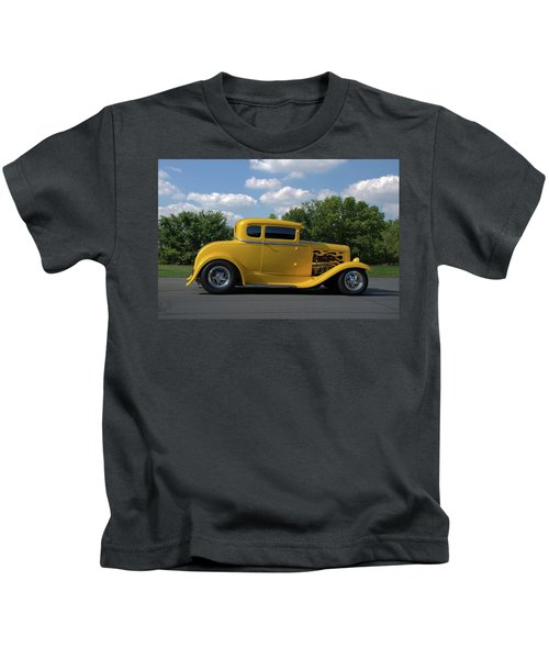 1931 Ford Coupe Hot Rod Kids T-Shirt