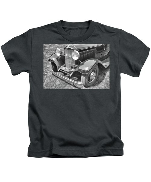1932 Ford Coupe Bw Kids T-Shirt