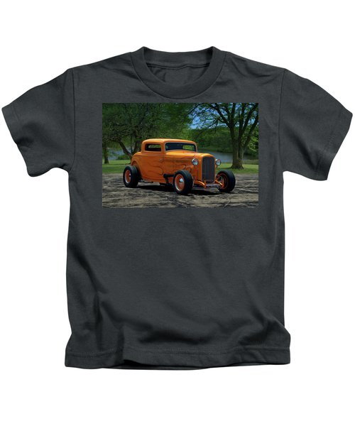 1932 Ford Coupe Hot Rod Kids T-Shirt
