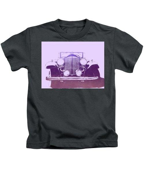 1932 Packard Pop Art Violet Gradient Kids T-Shirt