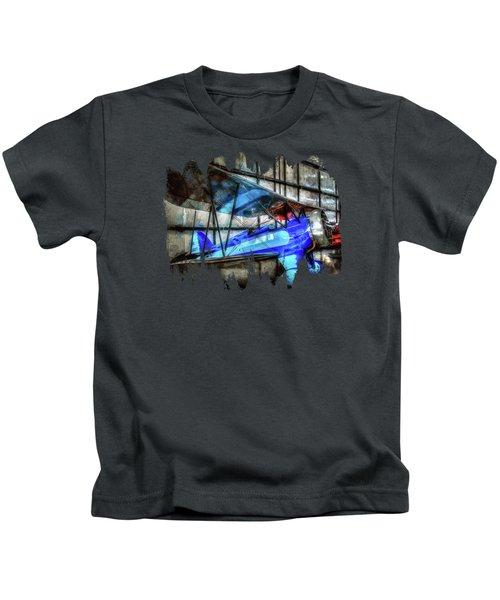 1932 Waco Biplane Kids T-Shirt