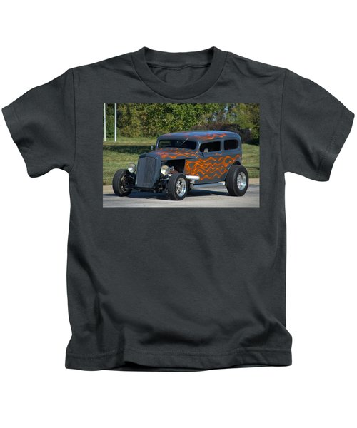 1933 Ford Sedan Hot Rod Kids T-Shirt