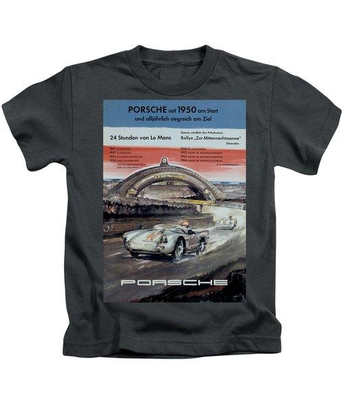 1950 Porsche Le Mans Poster Kids T-Shirt
