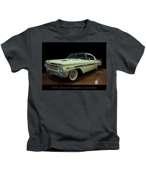 1959 Chevy Impala Convertible Kids T-Shirt