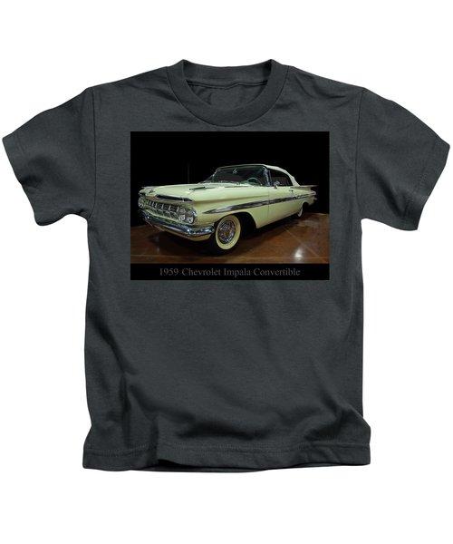 1959 Chevy Impala Convertible Kids T-Shirt