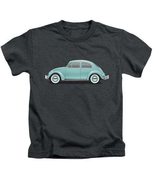1961 Volkswagen Deluxe Sedan - Turquoise Kids T-Shirt by Ed Jackson