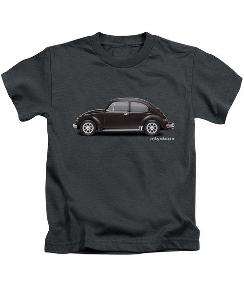 1972 Volkswagen 1300 - Custom Kids T-Shirt by Ed Jackson