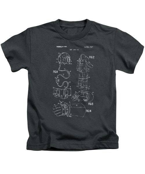1973 Space Suit Elements Patent Artwork - Gray Kids T-Shirt