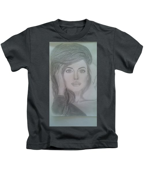 1f3adf29 Angelina Jolie Drawing Kids T-Shirts | Fine Art America