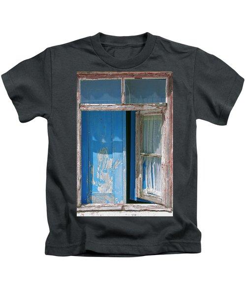 Blue Window Kids T-Shirt