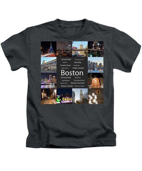 Boston Ma Collage Kids T-Shirt