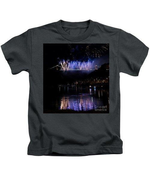 Clifton Suspension Bridge Fireworks Kids T-Shirt