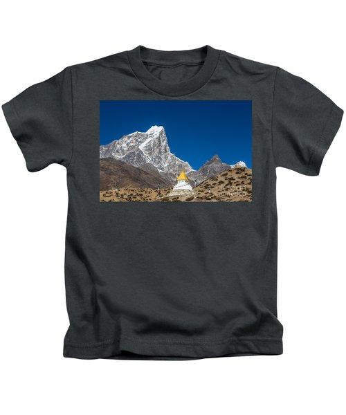 Dingboche Stupa In Nepal Kids T-Shirt