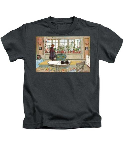 Flowers On The Windowsill Kids T-Shirt