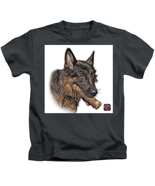 German Shepherd And Toy - 0745 F Kids T-Shirt
