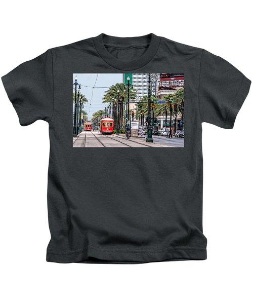 New Orleans Canal Street Streetcars Kids T-Shirt