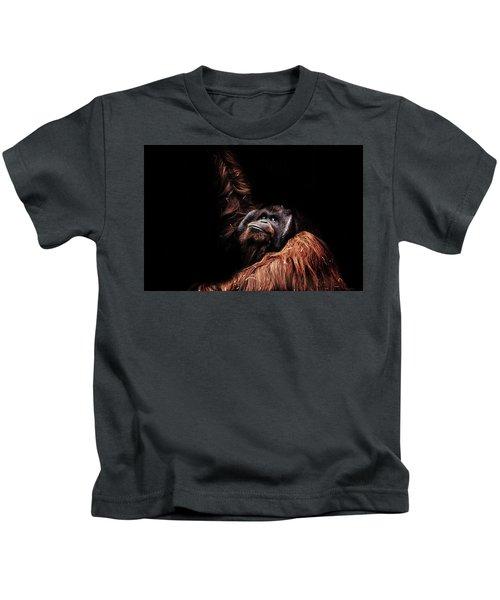 Orangutan Kids T-Shirt by Martin Newman