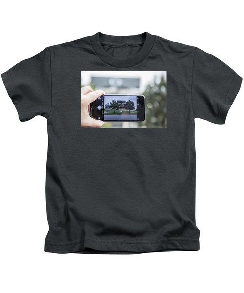 Penn State Beaver Stadium  Kids T-Shirt by John McGraw