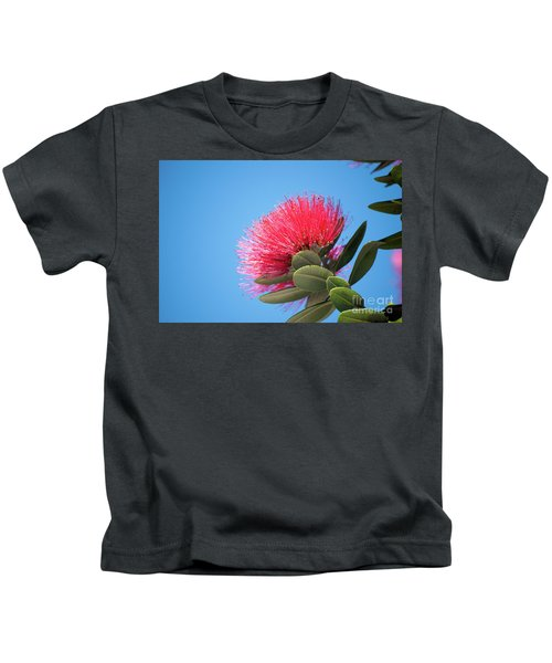Pohutukawa Tree Flower Kids T-Shirt