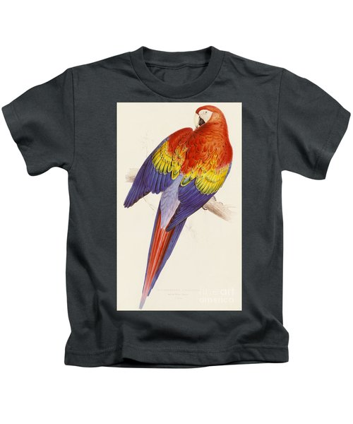 Red And Yellow Macaw Kids T-Shirt