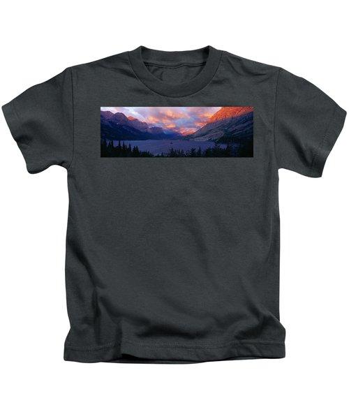 St. Mary Lake, Glacier National Park Kids T-Shirt