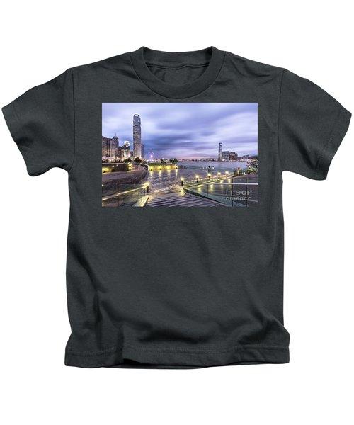 Sunset Over Hong Kong Kids T-Shirt