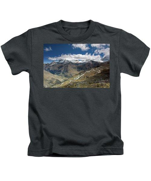 View From Portachuelo Pass Kids T-Shirt