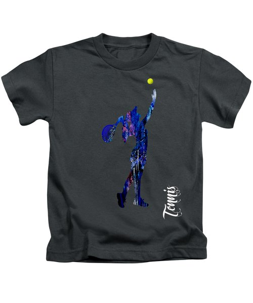 Womens Tennis Collection Kids T-Shirt by Marvin Blaine