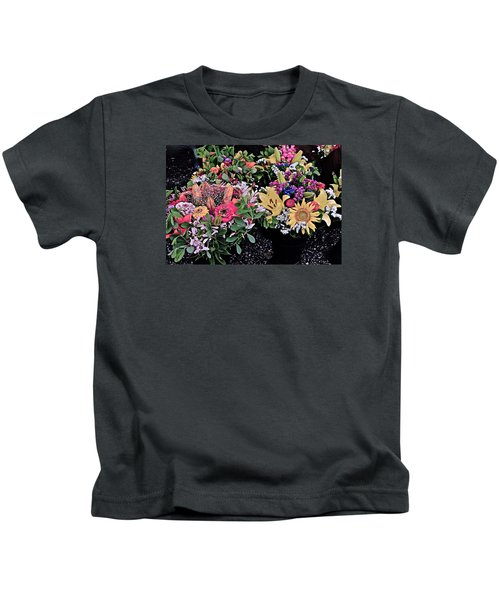2015 Monona Farmers Market Flowers 1 Kids T-Shirt