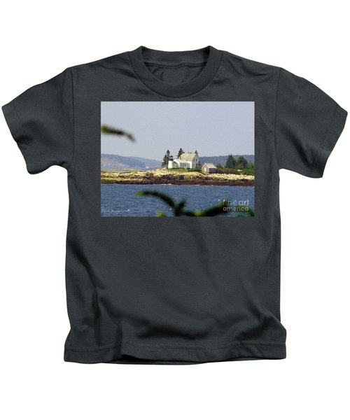 2015 Winter Harbor Light Kids T-Shirt