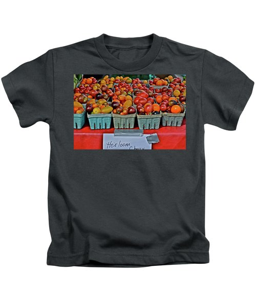 2017 Monona Farmers' Market August Heirloom Cherry Tomatoes Kids T-Shirt
