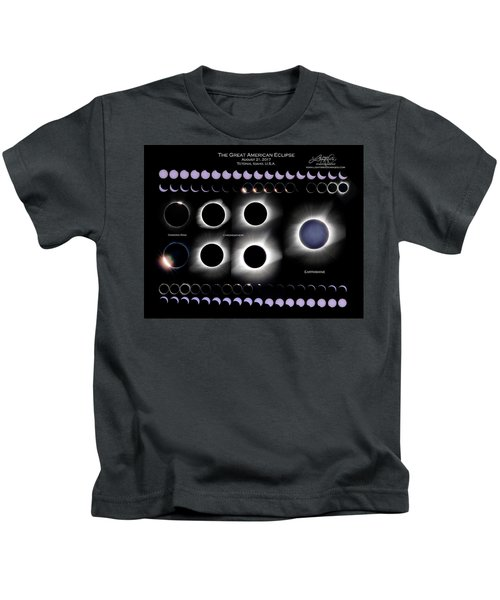 2017 Solar Eclipse Collage Kids T-Shirt