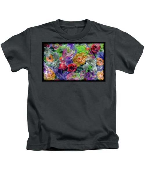 21a Abstract Floral Painting Digital Expressionism Kids T-Shirt